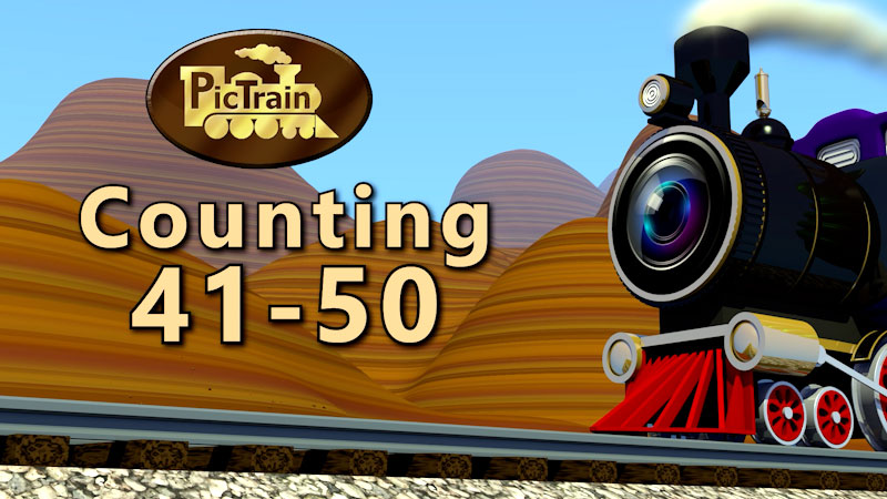 Still image from: PicTrain: Counting 41-50