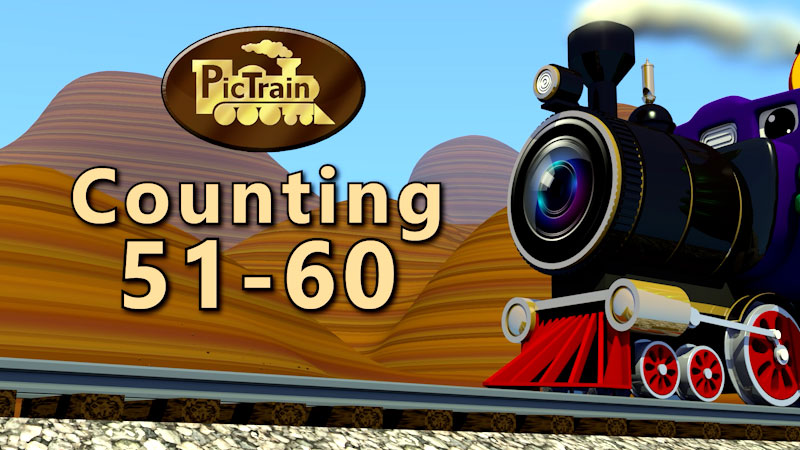 Still image from: PicTrain: Counting 51-60