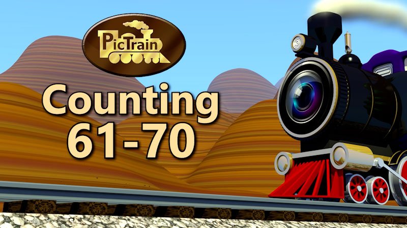 Still image from: PicTrain: Counting 61-70