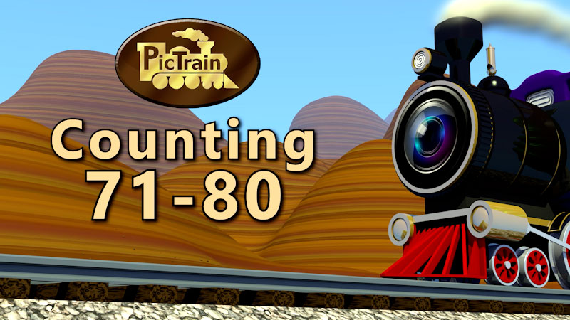 Still image from: PicTrain: Counting 71-80
