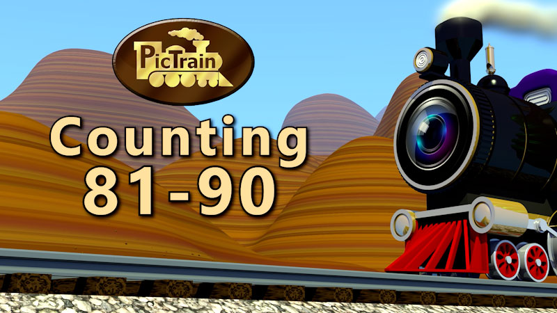 Still image from: PicTrain: Counting 81-90