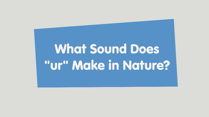 """Still image from: Let's Learn: What Sound Does """"ur"""" Make in Nature?"""