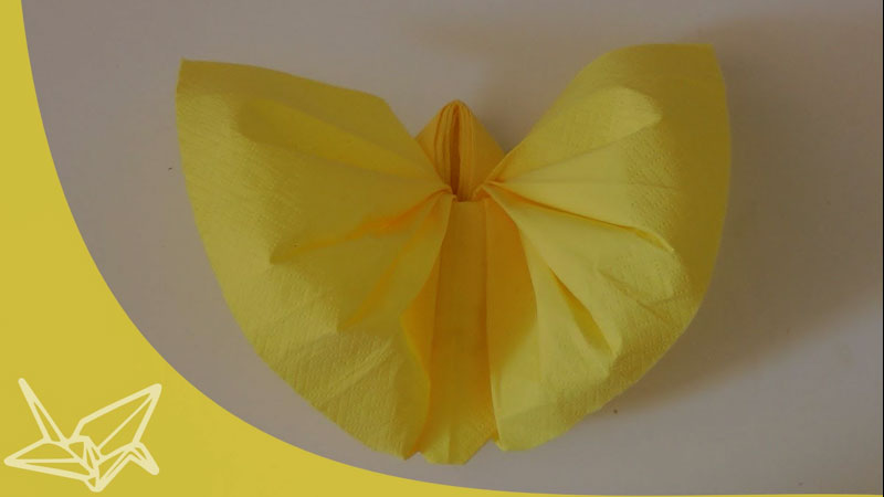 Still image from: Origami Napkin Butterfly