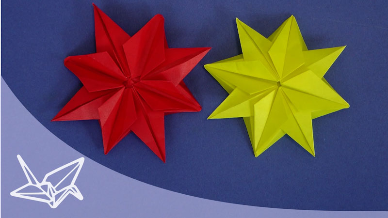 Still image from: Origami Christmas Star Instructions