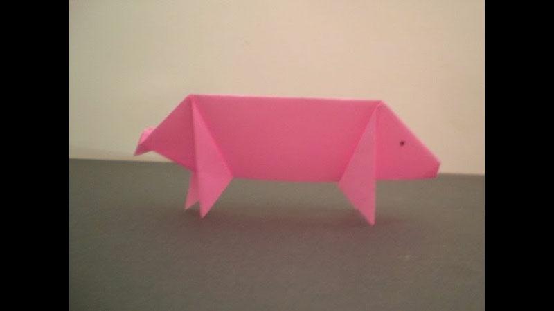Still image from: Origami Pig