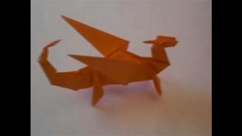 Still image from: Origami Dragon