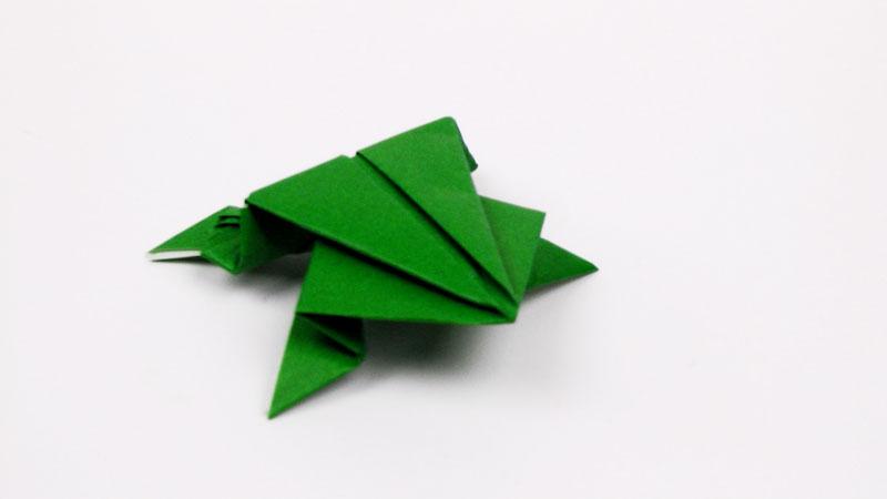 Still image from: Origami Jumping Frog