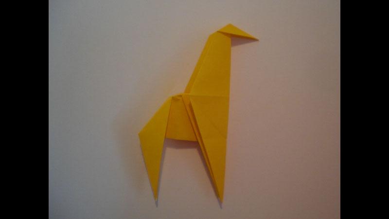 Still image from: Origami Simple Giraffe