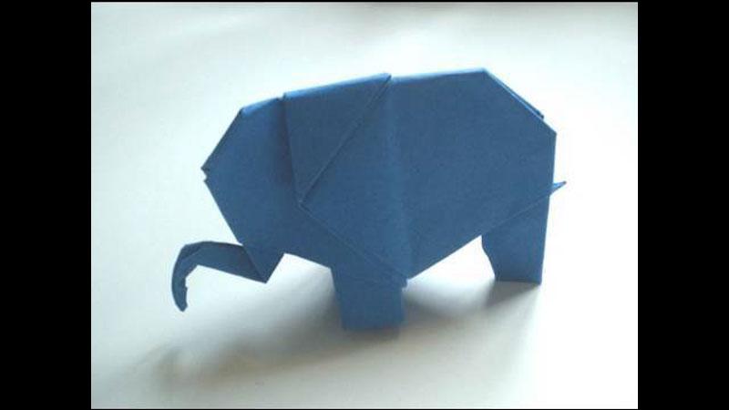 Still image from: Origami Elephant