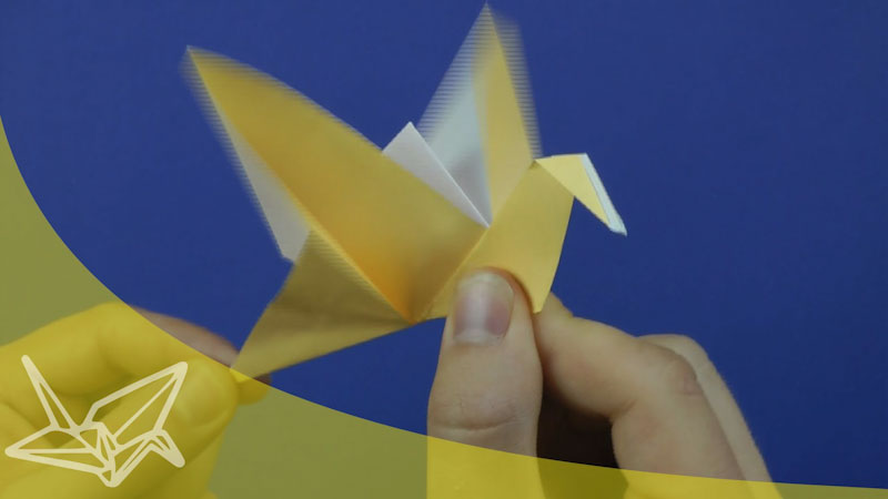 Still image from: Origami Flapping Bird