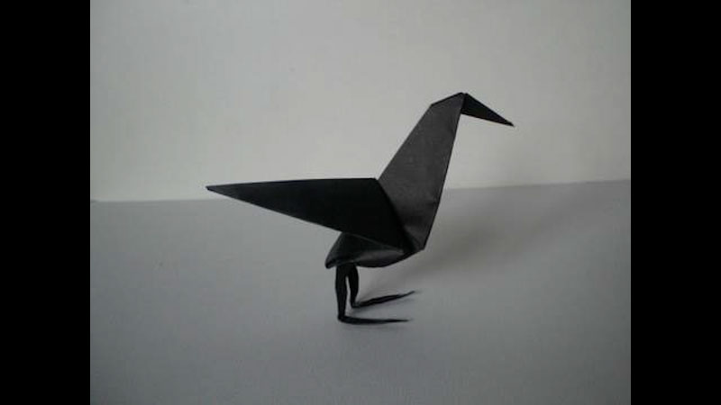 Still image from: Origami Raven