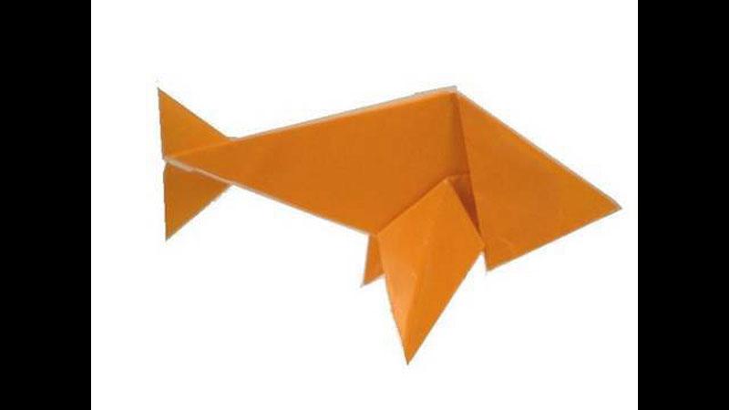 Still image from: Origami Fish