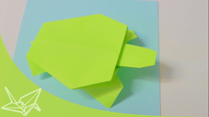 Still image from: Origami Turtle