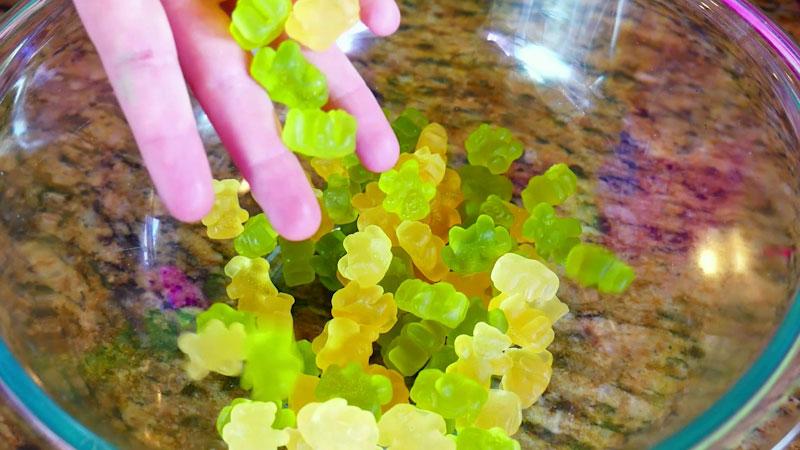Still image from: Edible Gummy Bear Slime DIY!