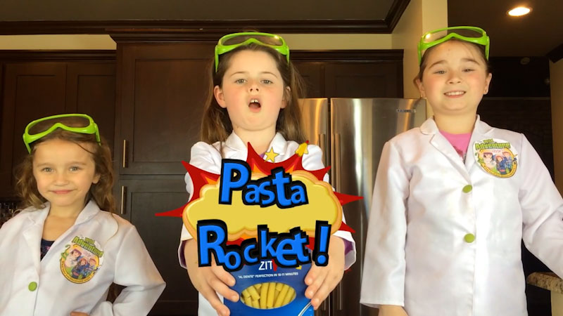 Still image from: Explosive Science: How to Make a Pasta Rocket