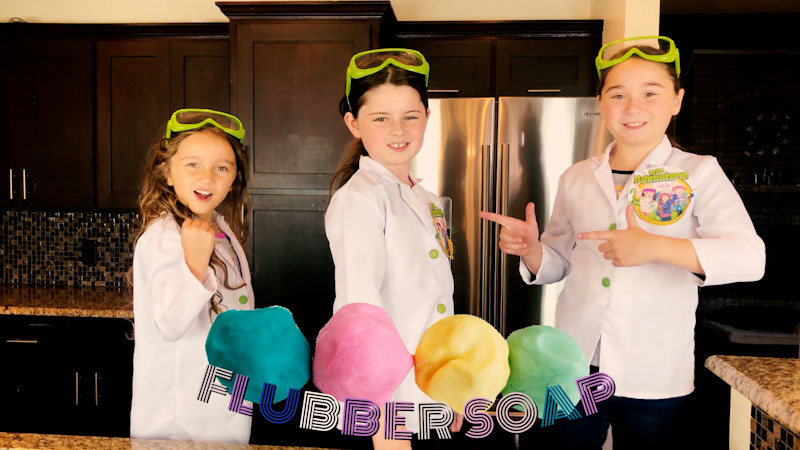 Still image from: Flubber Soap for Kids! Learn How to Make Fun Squishy Soap!
