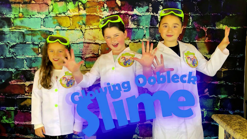Still image from: Glowing Oobleck Slime Science Experiment!