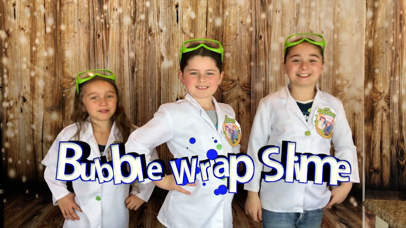 Still image from: How to Make Bubble Wrap Slime!