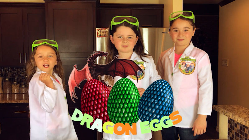 Still image from: How to Make Dragon Eggs That Sparkle