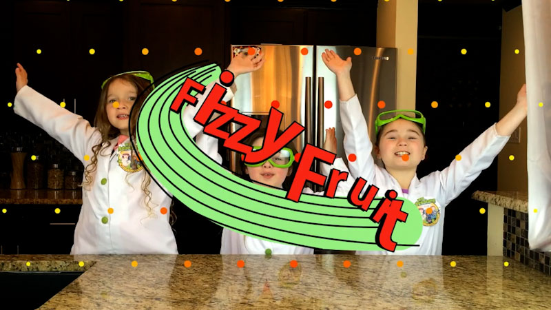 Still image from: How to Make Fizzy Fruit: Edible Science Experiments!