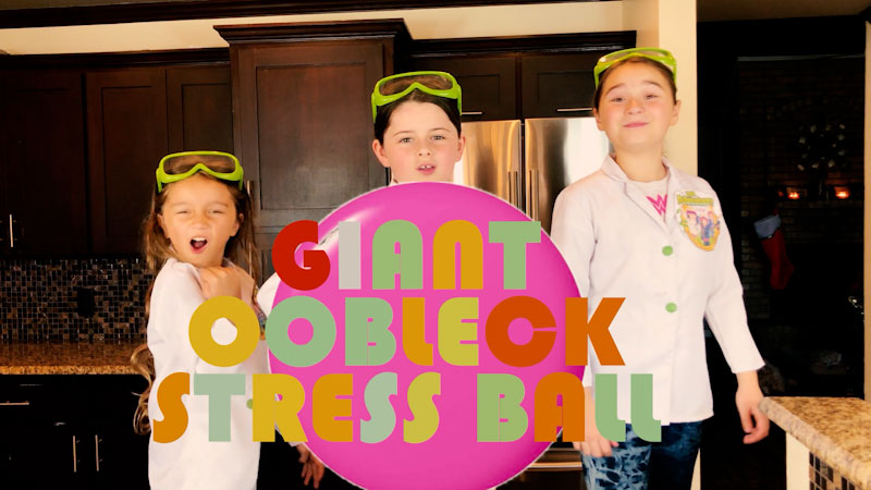Still image from: How to Make Giant Oobleck Stress Balls!