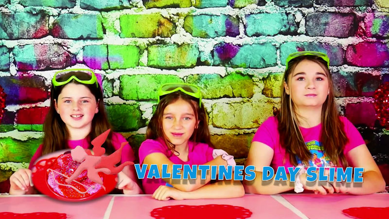 Still image from: How to Make Super Crunchy Valentine's Day Slime!