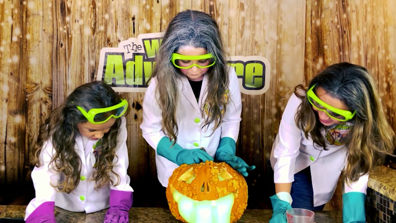 Still image from: Oozing Pumpkin Experiment: Easy Science Experiments for Kids