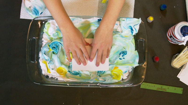 Still image from: Wild Explorers: Paper Marbling