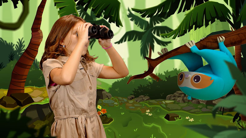 Still image from: Wild Explorers: Cami Meets a Sloth