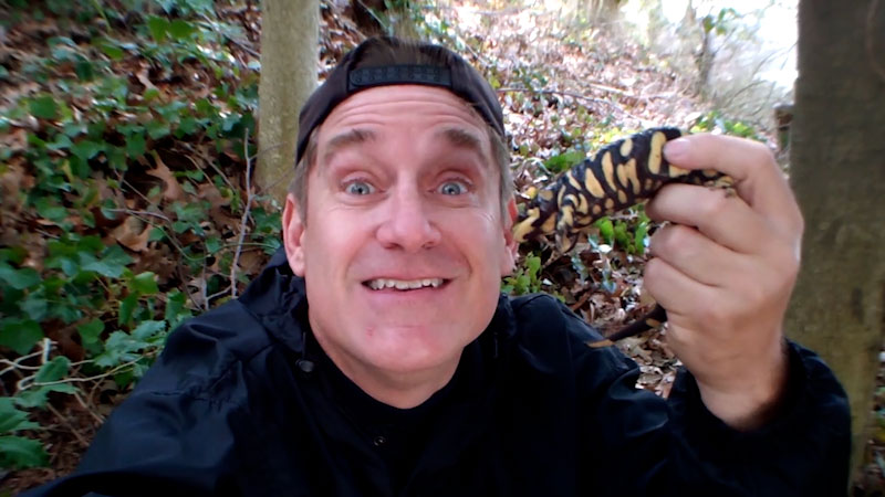 Still image from: Animal Jam: Dr. Brady Barr Finds a Tiger Salamander