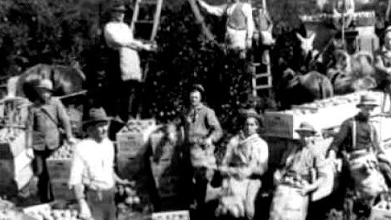 Still image from: Ohio Boatmen and the Pioneering Farmers