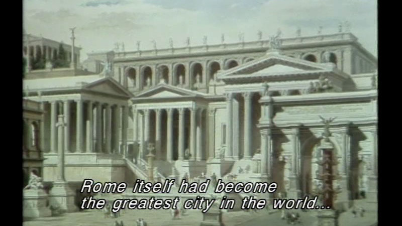 Still image from: The Romans