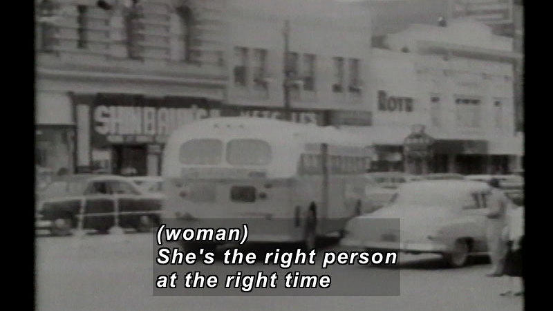 Still image from: Rosa Parks: The Path to Freedom