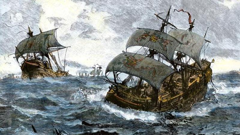 Still image from: The Spanish Armada