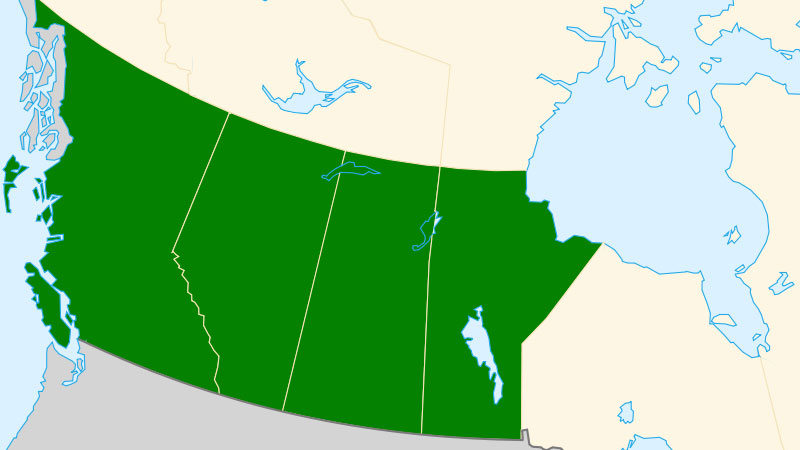 Map Western Canada Provinces The Western Canadian Provinces