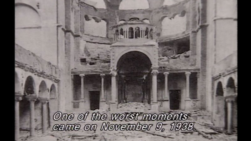 Still image from We Must Never Forget: The Story of the Holocaust