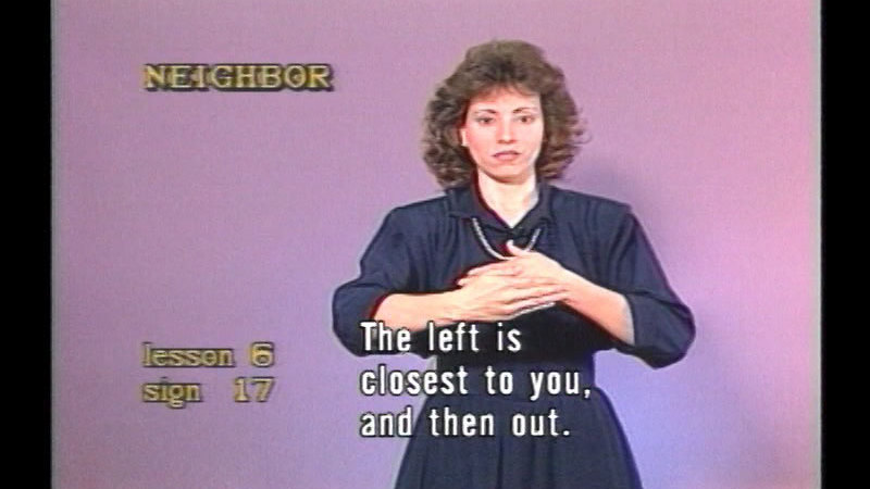 Still image from Video Sign Language Course, Volume 1