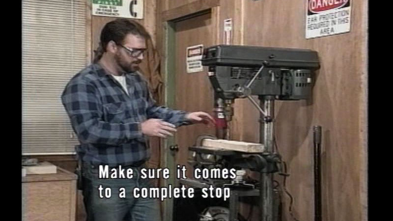 Still image from Woodshop Safety