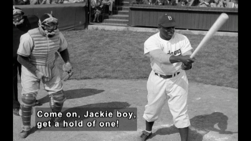 Still image from: The Jackie Robinson Story