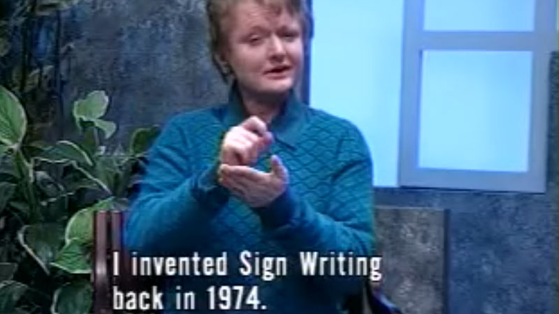 Still image from Deaf Perspectives On Sign Writing Video Series: Second Video