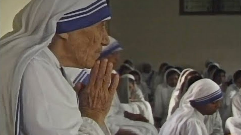 Still image from Mother Teresa's First Love