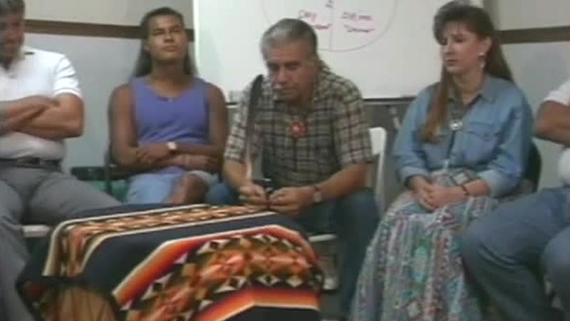 Still image from: The Red Road to Sobriety: Video Talking Circle