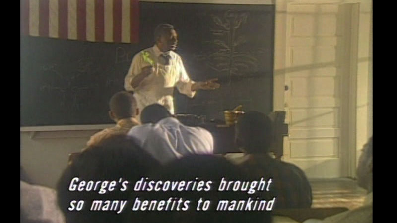 Still image from The Peanut Man: George Washington Carver