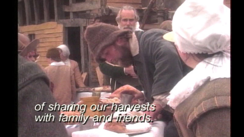 Still image from Thanksgiving Shared: Native Americans And Pilgrims