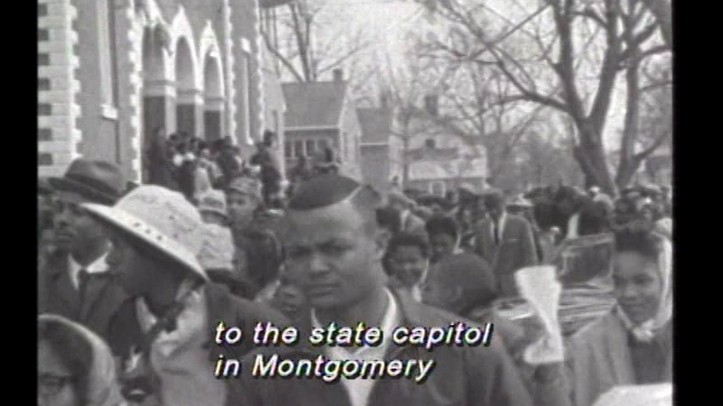 Still image from: African Americans Marching to Freedom