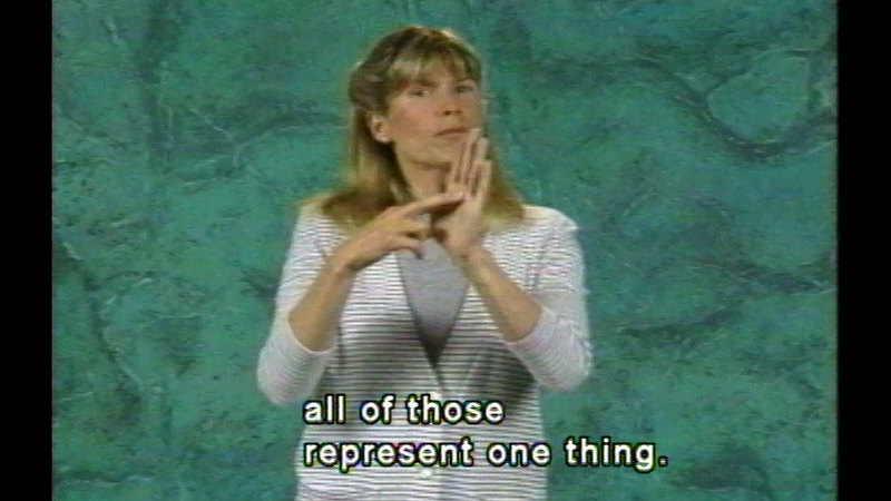 Still image from ASL Video Lesson 5