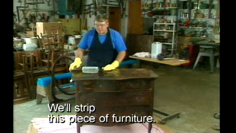 Still image from Norm's Guide To Antiquing And Furniture Restoration