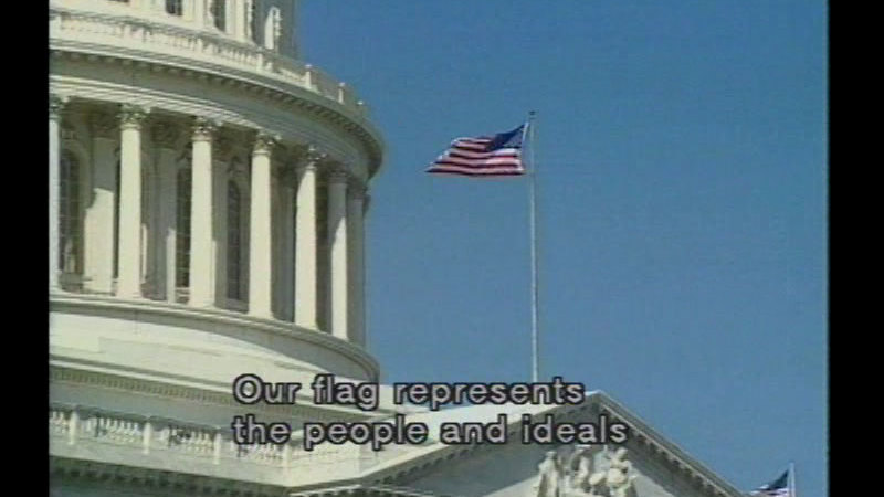 Still image from The U.S. Flag