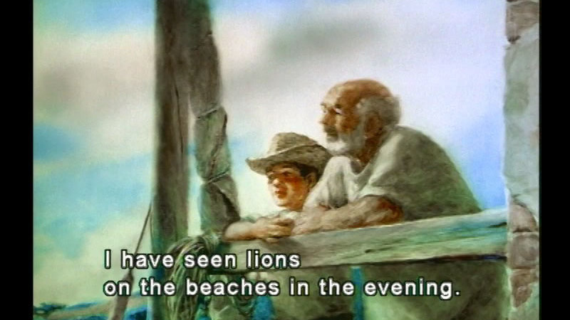 Still image from: The Old Man and the Sea