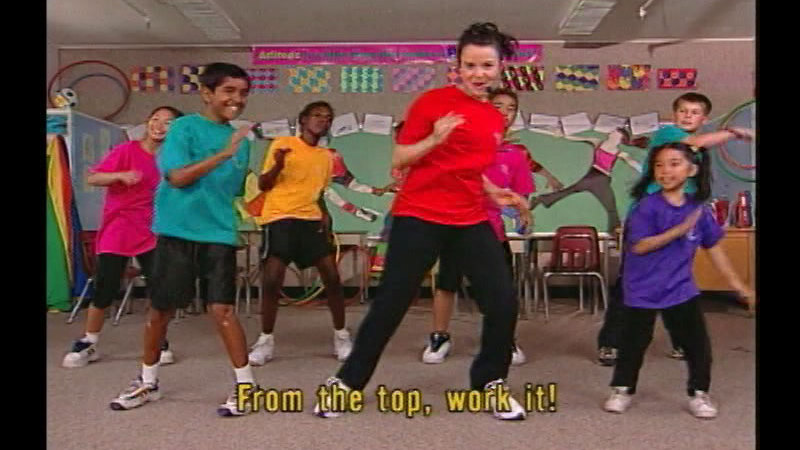 Still image from: Fit Kids Classroom Workout